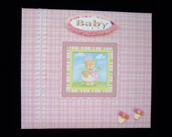 New- 8 X 8  Post Bound Scrapbook Album A Day at the Little Baby Princess