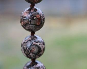 Handmade Leopardskin Jasper Necklace