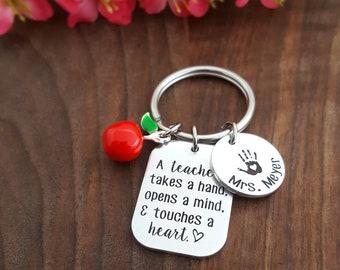 Teacher Appreciation Keychain | Personalized Gift For Teacher | Thank You Teacher Gift | Teacher Appreciation Week | Gifts For Teachers