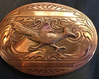 Vintage ' Road Runner ' Belt Buckle