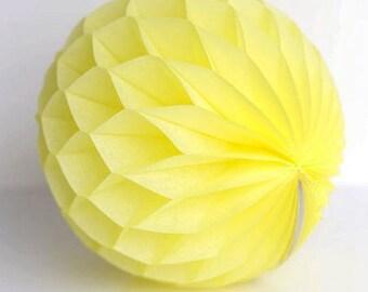Yellow  6 inch Honeycomb Paper Lantern