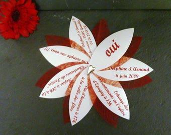 Set of 150 with envelope original wedding invitations