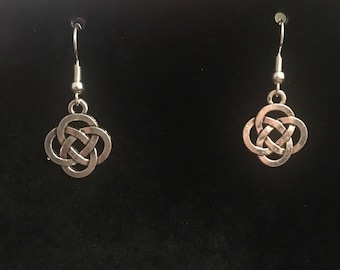 Celtic Dara Knot Dangle Earrings