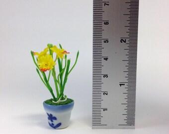 Miniature clay flowers,Dollhouse,porcelain flowers,sculpture,clay flowers