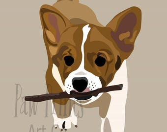 Welsh Corgi Puppy II Art Print