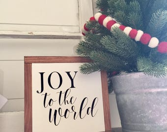 JOY to the World wood sign, Christmas sign, Farmhouse decor