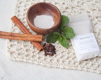 1OZ BAKING-SODA FREE  Vegan Organic Fluoride Free Remineralizing Tooth Powder. 4-6 weeks supply