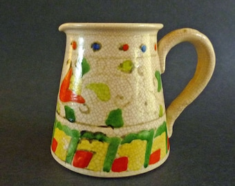 Small Vintage Floral Pitcher Made in Japan
