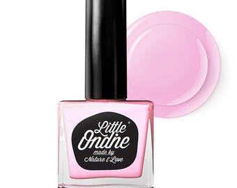 Little Ondine Natural Non-toxic Water-Based Quick Dry Fingernail Lacquer Peel off Nail Polish 10.5ml ( L406-Zamm )Neon Pink
