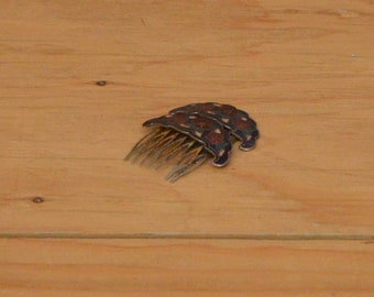 Vintage Set Of Two Cloisonné Hair Combs Great For A Boho Look