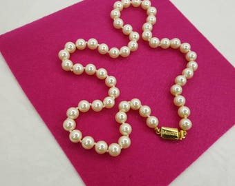 Monet Creamy White pearls Strand Wedding Bridal party Necklace