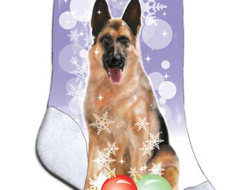 NEW Personalized German Shepard Puppy Lover Christmas Stocking Embroidered
