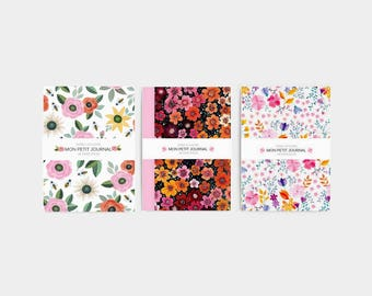 Set of 3 notebooks, journal, diary, notes,flowers, stationery, set of 3 notebooks, vintage pattern, roses notebook, christmas gift