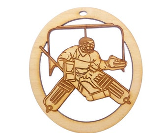 Ice Hockey Goalie Ornament - Ice Hockey Player Gift - Ice Hockey Ornaments - Ice Hockey Gifts - Ice Hockey Team Gifts - Personalized Free