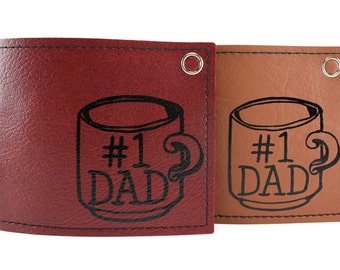 Number 1 Dad Wallet  - Available brown only