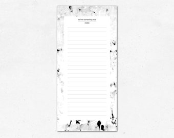 Notepad marble, white