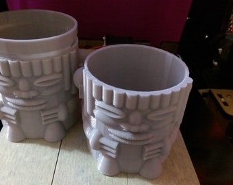 Tiki Planter | Tiki | Planter | 3D Printed | Succulent Pot | Plant Pot | Air Plant Holder | Succulent Pots | Bonsai Pot | Orchid Pot
