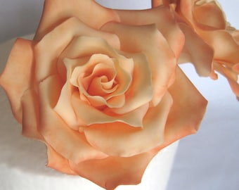 Large or medium roses. Gum paste flowers cake toppers cake decoration