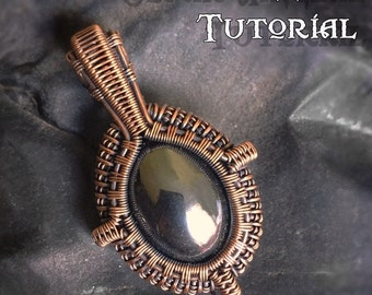 TUTORIAL - Portal Pendant - Wire Wrapping - Jewelry Pattern - Oval Cabochon Wire Wrapped Gemstone Lesson - Wire Wrap Stone