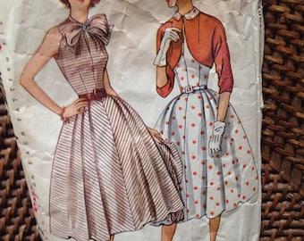 1950's simplicity pattern dress w/ bolero jacket
