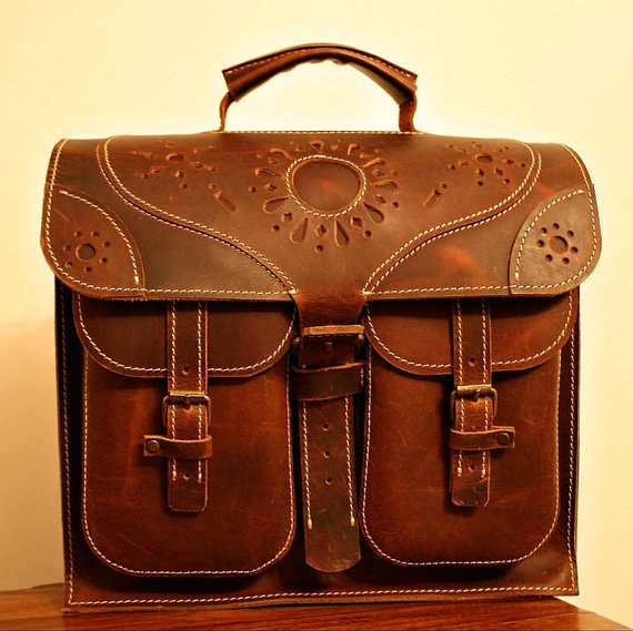 Leather Briefcase, 13 inch Transilvania Leather Bag, Laptop Briefcase, Ofiice Handmade Bag, Laptop Bag, Leather Bag