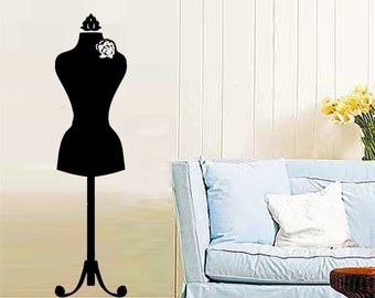 ShaNickers Wall Decal\/Sticker -Dress Form--FREE SHIPPING