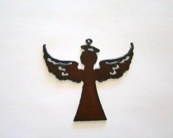 Angel Rustic Recycled Metal Pendant Cutout