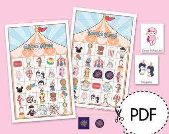 Circus Bingo Game Kit–Printable PDF Download