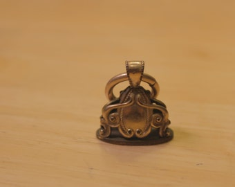 Victorian Gold Tone Watch Fob with Initials
