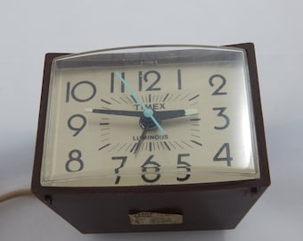 Vintage Timex Electric Alarm Clock 1960's