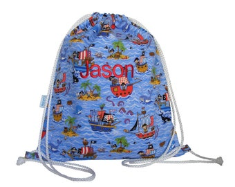 Personalised Swim Bag, Backpack, PE Bag - Pirate