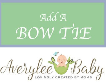 Add a Second Bow Tie to Any of our Bodysuits
