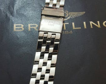 20mm replacement stainless steel bracelet with deployment clasp fits to navitimer breitling watches.No UK shipping.READ DESCRIPTION