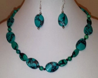 Robins Egg Blue - Speckled Necklace - Robins Egg Blue Necklace - Robins Egg Earrings - Robins Egg Blue Jewelry Set - Robin - Robins Egg