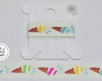 """Washi Tape Sample 24""""   Ice Cream Cones   Foil"""