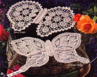 Butterfly Doilies Crochet lace Crochet butterfly Lace butterfly Pdf file
