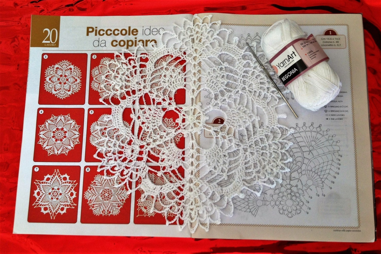 9 pcs Crochet Doily Diagram, Only diagram, Crochet Doily Diagram ...