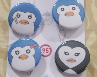 Mawaru-Penguindrum Penguins Button Set