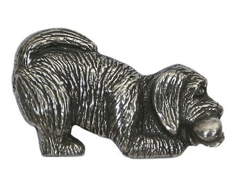 Danforth Prudence Puppy 1 inch ( 24 mm ) Pewter Shank Button