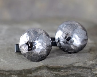 Sterling Silver Cufflinks - Rustic Jewellery for Men - Formal Wear Accessory - Grooms Gift - Wedding Accessories