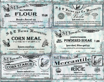 Shabby Chic Vintage Pantry Labels