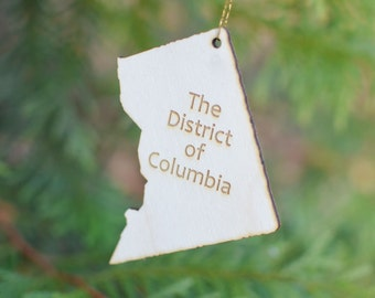 Natural Wood The District of Columbia Ornament