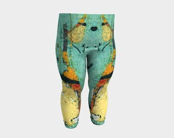 Party Time Baby Pants Teal Soft Yellow Baby Leggings Toddler Clothing Kids Unisex Colorful Fashion Stretchy Pant cute baby tights new mom