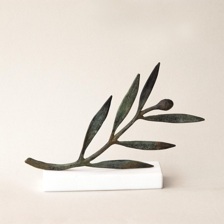 Bronze Metal Olive Branch Goddess Athena Symbol