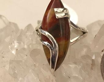 Mookaite Jasper Ring Size 9