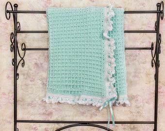 Crochet blanket, Baby Blanket, Gender neutral, Green baby blanket, Baby girl blanket, Newborn blanket, Baby shower, Baby gift, Nursery decor