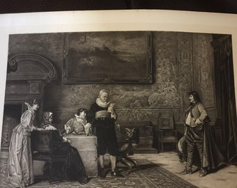 Antique photogravure, From One Hundred Crowned Masterpieces of Painting Collection