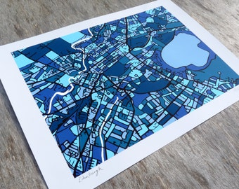 Edinburgh Art Map - Limited Edition Contemporary Giclée Print