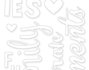 Bella Blvd Ciao Chip Word Chipboard Stickers - Family