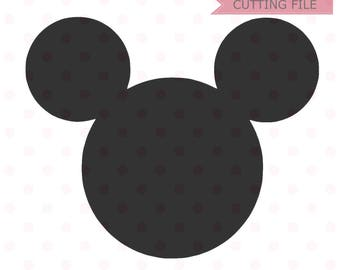 Mickey Mouse Head SVG, Mickey Mouse Silhouette Vector SVG and PNG Download for cricut and silhouette